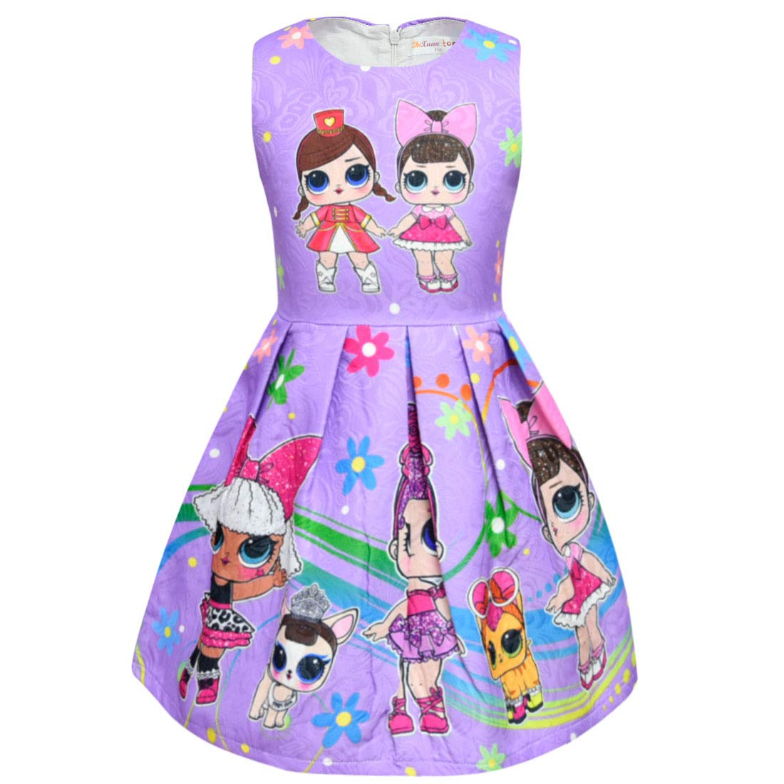 Dgfstm Baby Girls Lovely Dolls & Pets Evening Party Princess Sleeveless Dresses
