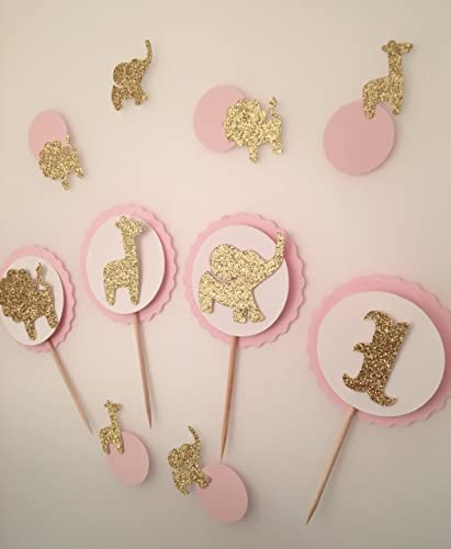 amazon com safari theme baby shower cupcake toppers set birthday