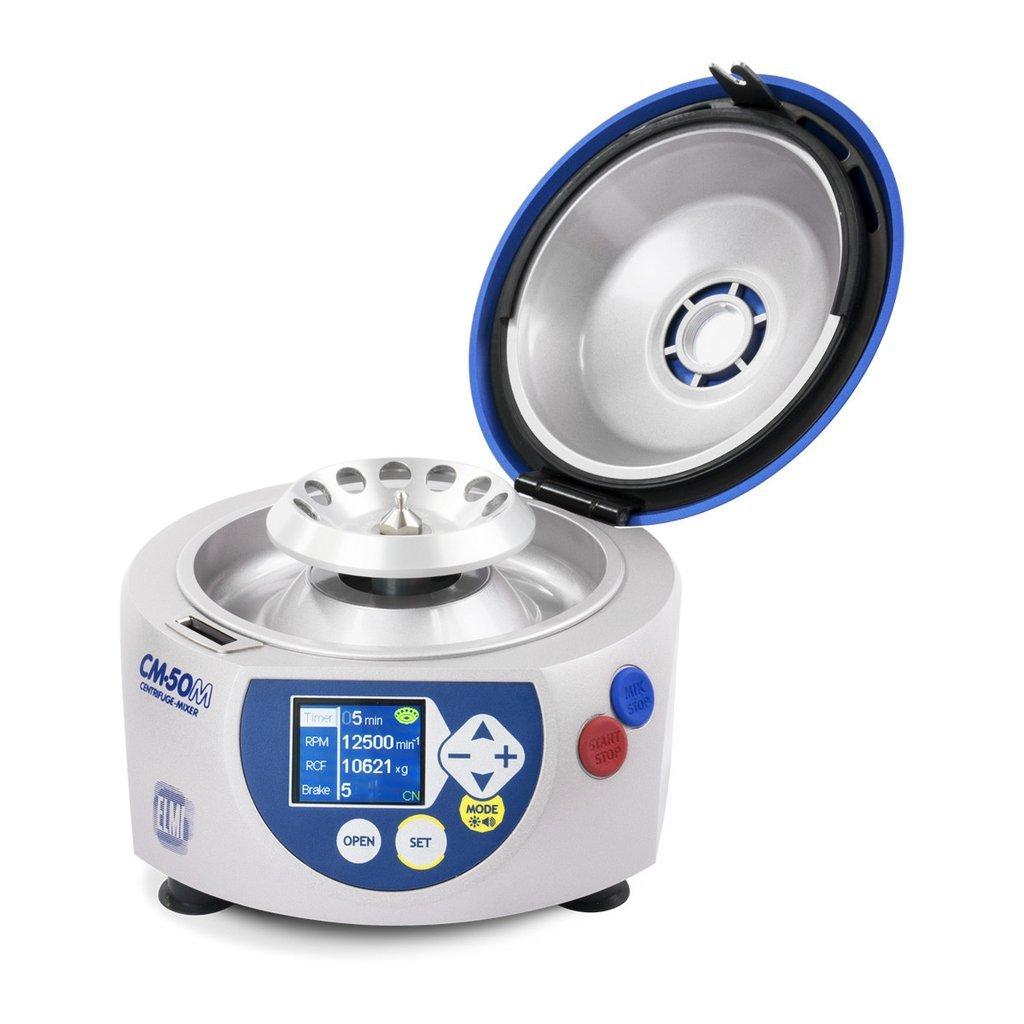 cm-MC-5 Included ELMI cm-MC-2 CM-50M Fugamix Microcentrifuge 115V Mix Rotor 1000 RPM to 15000 RPM