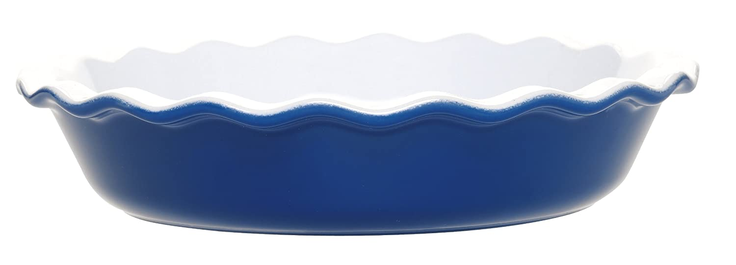 Amazon.com: Emile Henry 9 Inch Pie Dish, Azure Blue: Pie Pans: Kitchen U0026  Dining