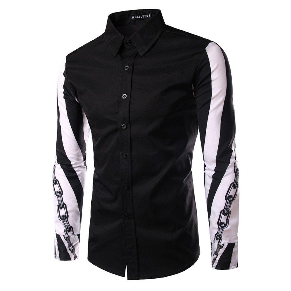 Lixus Mode langärmelige Shirt Langarm - Shirt Reparatur - männer - Design,schwarz,l