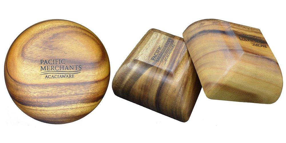 Pacific Merchants Acaciaware Round Calabash Bowl, 4-Inch by 1.5-Inch, Set of 4 by Pacific Merchants Trading (Image #2)
