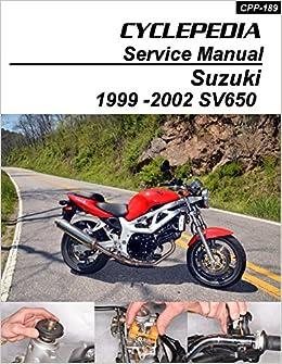 cpp-189-p suzuki sv650 cyclepedia printed service manual 1999-2002:  manufacturer: amazon com: books