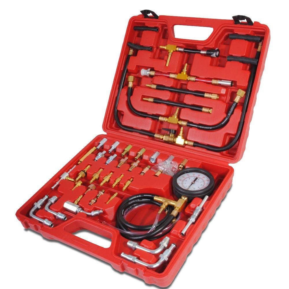 Car Fuel Injection Pump Tester Injector Pressure Test Gauge Diagnostic Tool Kit Kangs