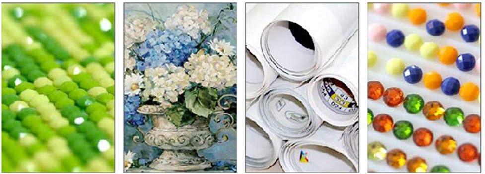 Kit de pintura de diamante 5d puerta de flor de cristal punto de cruz decoraci/ón del hogar bordado de diamantes arte de mosaico de dibujos animados
