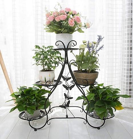 Smhj Soporte De 3 Plantas Con Soporte Para Plantas Interior De Metal