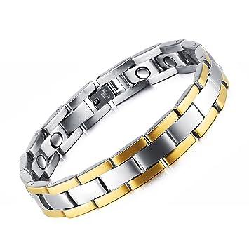 c053459dbf31 Pulsera de Hombre brazaletes magnética Elemento de titanio Hombre Pulsera  de moda regalo para padre