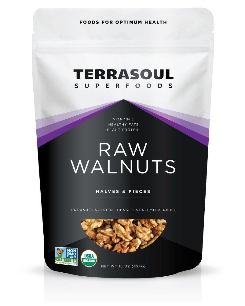 Terrasoul Superfoods Organic Raw Walnuts, 16-ounce