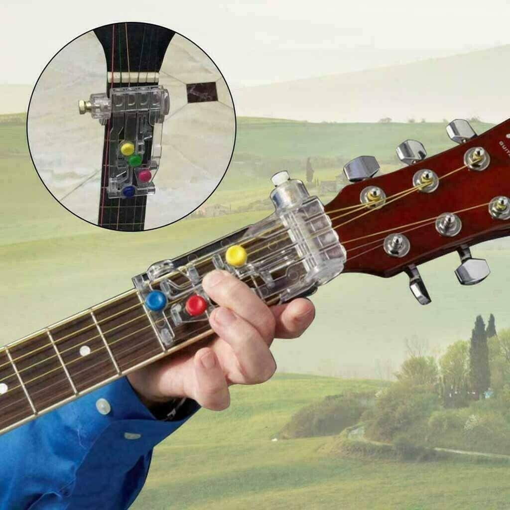 Classical Chord Buddy Guitar Learning System Teaching Aid Chordbuddy Unit Only Guitar Learning System Auxiliary Tools For Guitar Beginners Just Press Buttons And Play Guitar 1 Pcs
