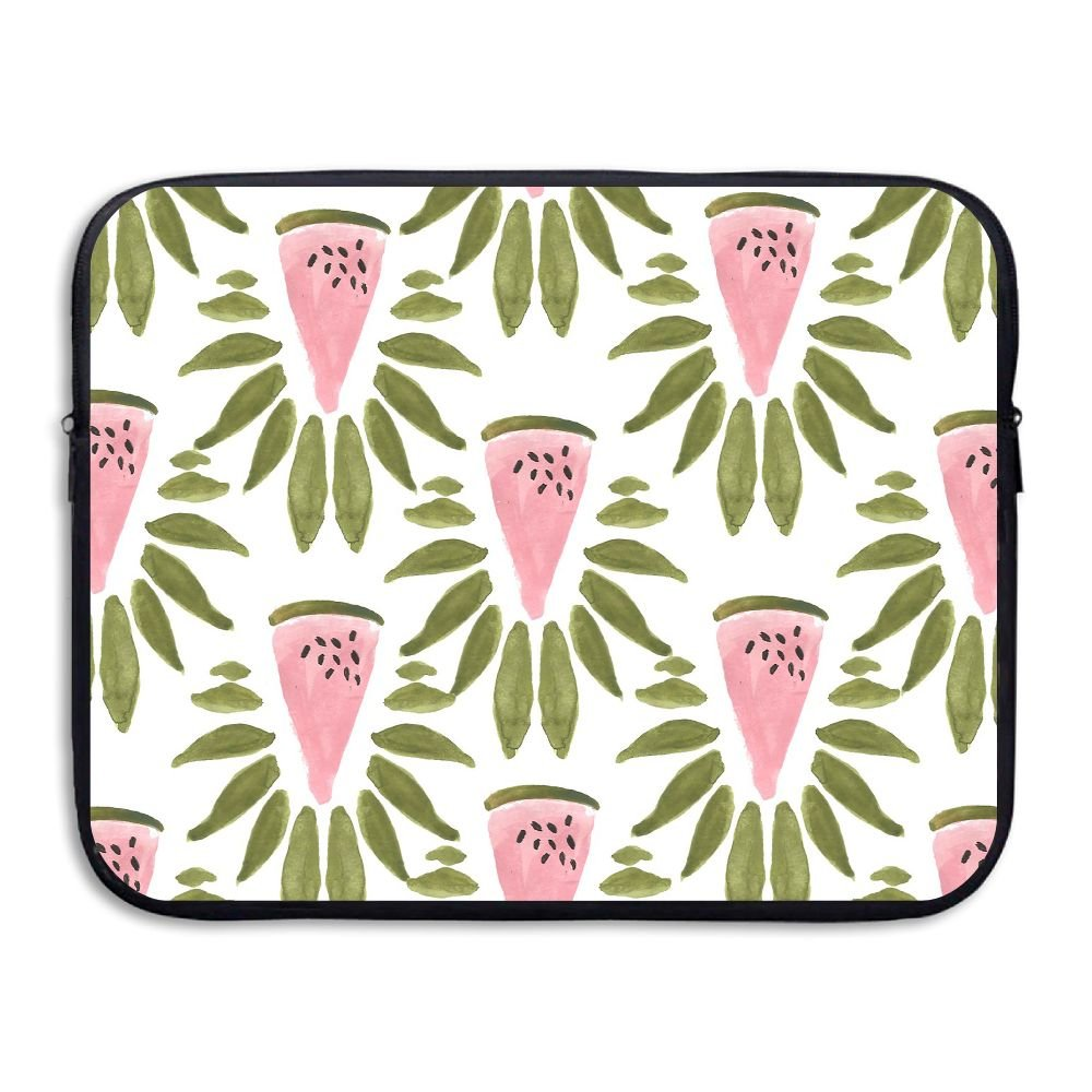 Fonsisi Summer Watermelon Seamless Watercolor Laptop Storage Bag - Portable Waterproof Laptop Case Briefcase Sleeve Bags Cover
