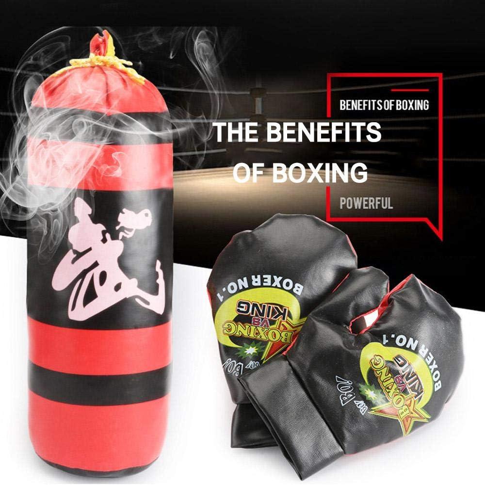 Juego de Saco de Boxeo para ni/ños Incluye 1 par de Guantes de Boxeo para ni/ños y Adultos Volwco