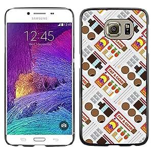 Be Good Phone Accessory // Dura Cáscara cubierta Protectora Caso Carcasa Funda de Protección para Samsung Galaxy S6 SM-G920 // Retro Candy Wrapper Pattern