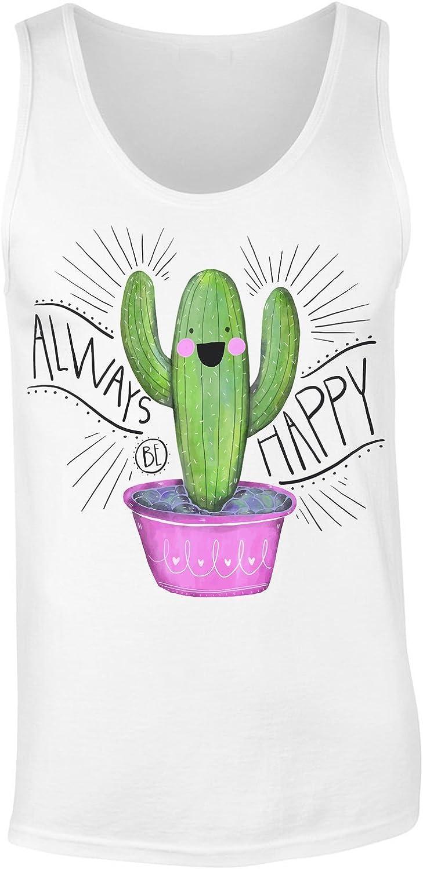 Always Be Happy Cute Cactus Camiseta sin Mangas para ...