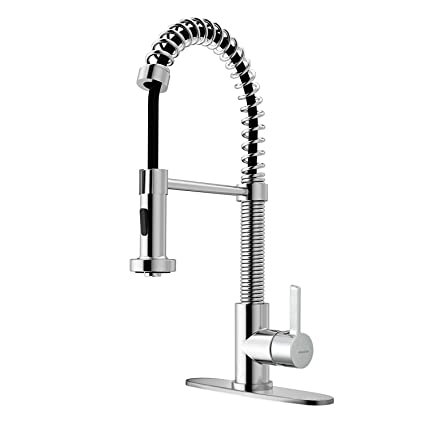 Kitchen Faucet With Pull Down Sprayer Single Handle High Arc Pull