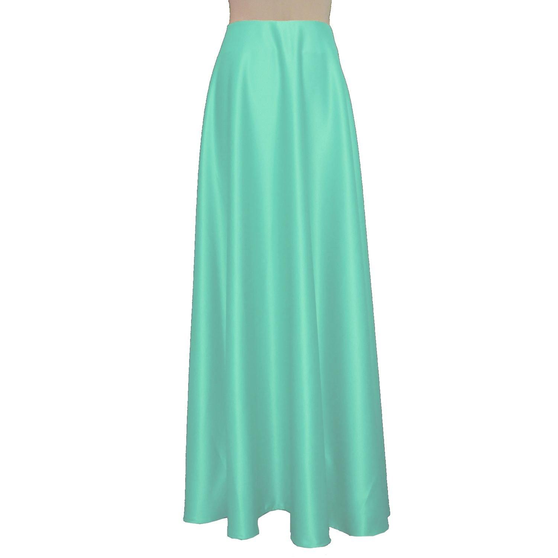 E K Women's long bridesmaid skirt Maxi evening formal wedding prom skirt-xs-Spearmint Green und
