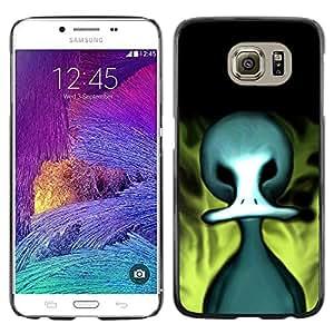 TopCaseStore / la caja del caucho duro de la cubierta de protección de la piel - Evil Flaming Duck - Samsung Galaxy S6 SM-G920