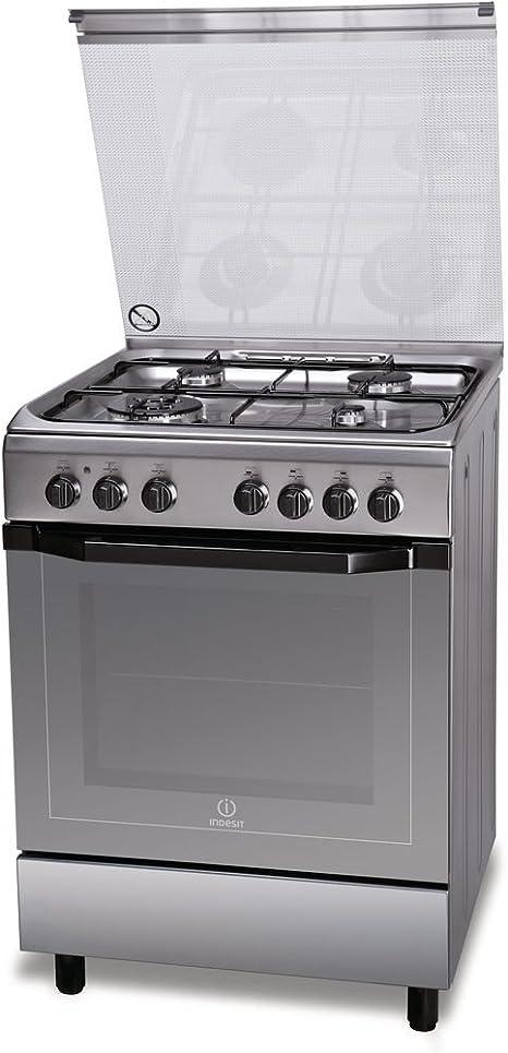 Indesit I6TMH2AF(X)/I - Cocina (Cocina independiente, Acero ...