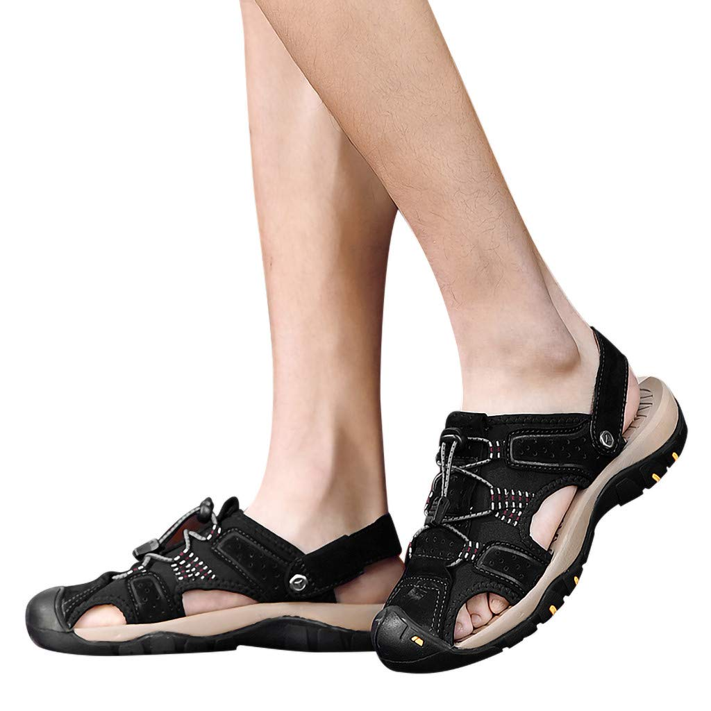 Summer Men's Sandals, Summer Outdoor Mens Fashion Flats Slippers Beach Shoes Breathable Sport Sandals