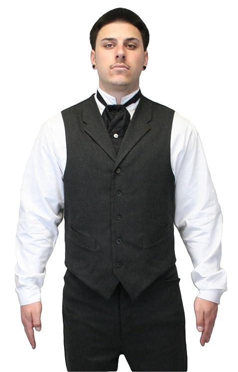 Men's Vintage Vests, Sweater Vests Historical Emporium Mens Callahan Cotton Blend Dress Vest $64.95 AT vintagedancer.com