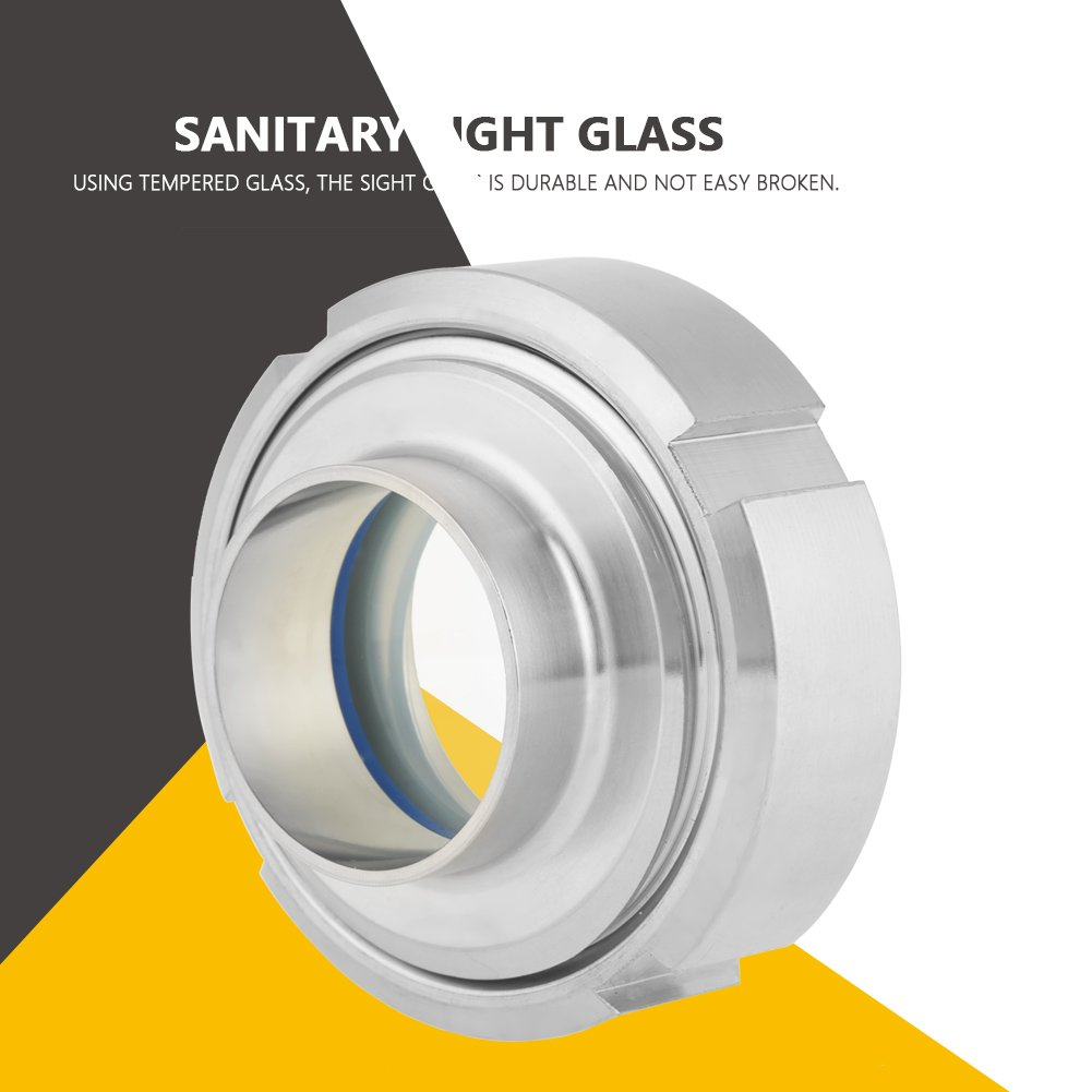 Stainless Steel SUS304 Sanitary Sight Glass Circular Viewing DN40 38mm by Wal front (Image #6)