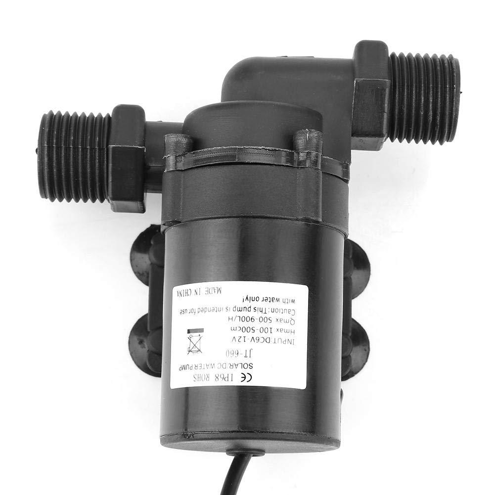 mini bomba de agua DC 12V 1.5A para calentador de agua solar H Bomba de agua sin escobillas 40 ℃ ~ 100 ℃ 800L