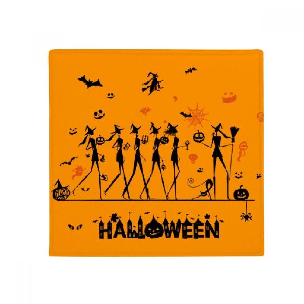 DIYthinker Halloween Strega a gambe lunghe Cartoon Anti -slip Floor Pet Mat Square Home Kitchen Door 80Cm Gift