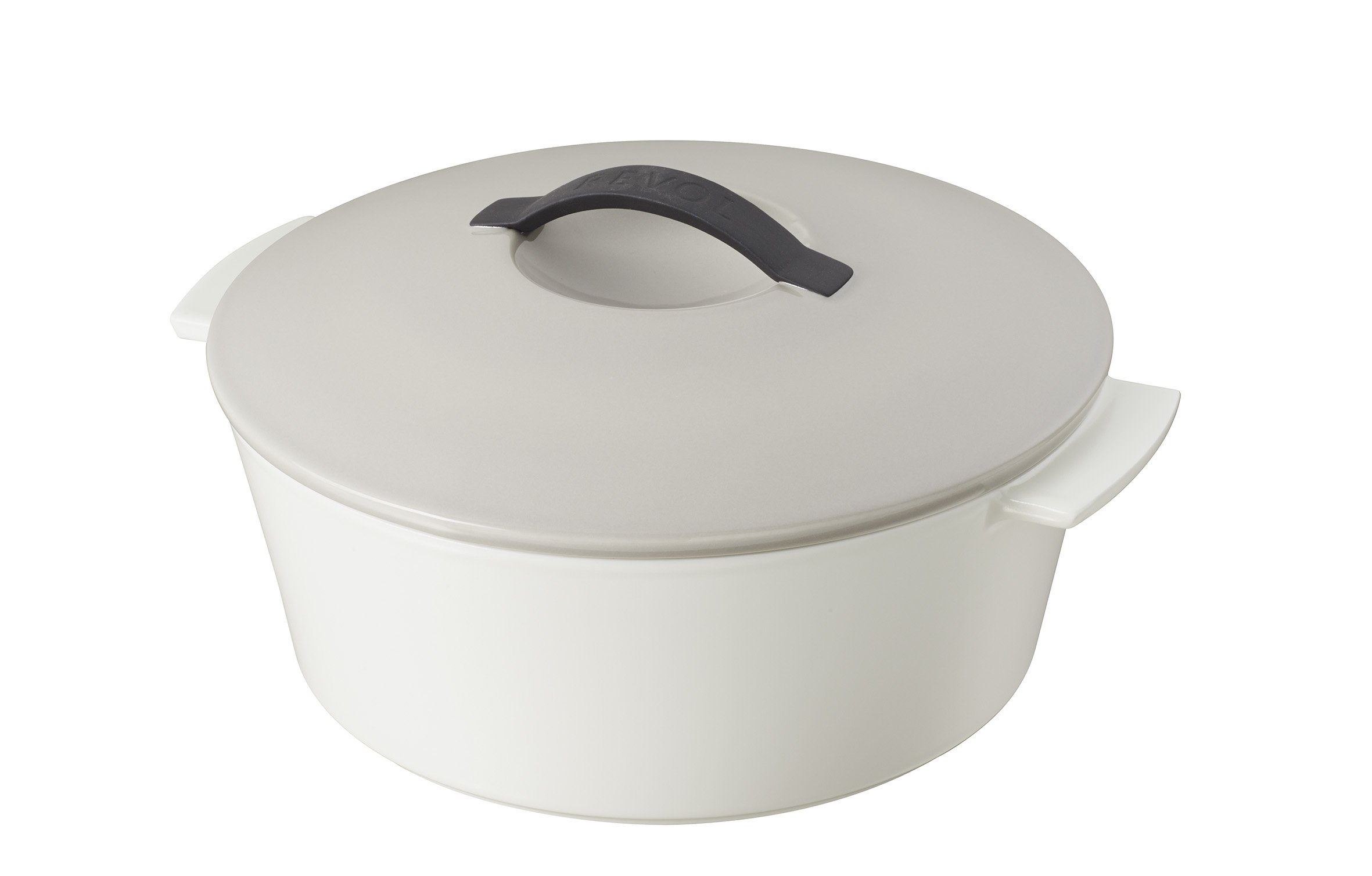 Revol USA Revolution Gifbox Induction Round Cocotte, 2.75-Quart, Taupe by Revol USA