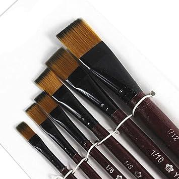 6Pcs Nylon Artist Acrylic Watercolor Oil Painting Brushes Art Paint Brush Pen
