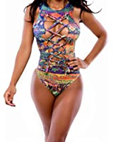 AWEIDS Sexy Hollow Out One-pieces Swimming Suit Large
