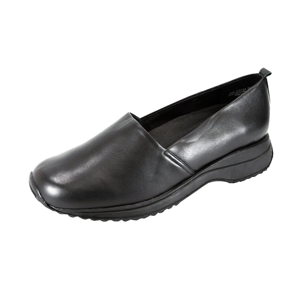 24 Hour Comfort  April (1865) Women Wide Width Work Clogs Black 9