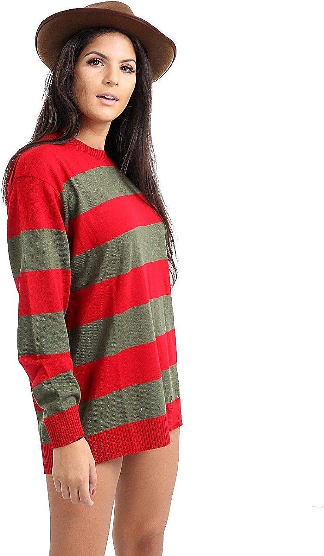 Nice Style Jersey de Punto para Mujer, Estilo Freddy Krueger ...