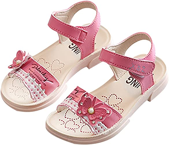 New Summer Girls Toddler Flower Sandals Shoes Wedding Party size 5-10
