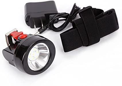 Lithium Led Cap Light Headlight Mining Lamp Miner Camping Fishing Wireless New