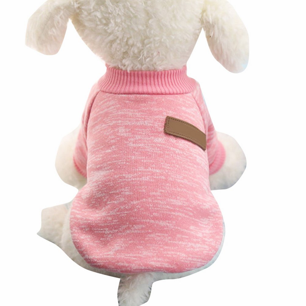 Nibesser Vetements T-shirt Pull Over pour Chien en Conton avec Rayures Couleur Cute Vivant Pour l'Hiver Noel Decore pour Animal de Compagnie (M, Marron) Housewarming