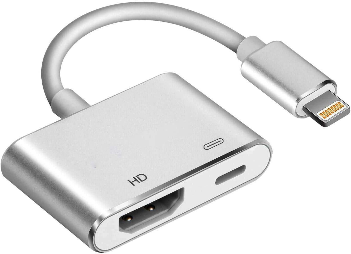 Compatible con iPhone a HDMI Adaptador de Cable, SJ-HYNG Digital AV Adaptador 1080p HD TV Conector para iPhone 11/Pro/Pro MAX/X/XS/XR/8 iPad Pro Air a TV Monitor de proyector (iOS13): Amazon.es: Electrónica