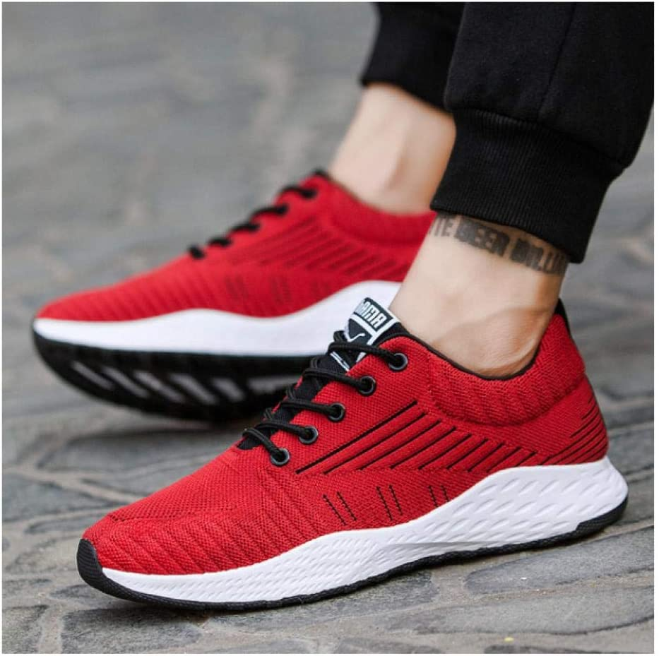 WAXFAS New Men's Shoes Spring and Autumn Flight Breathable Fabric Knit Casual Shoes Men's Shoes Coconut Tide 37
