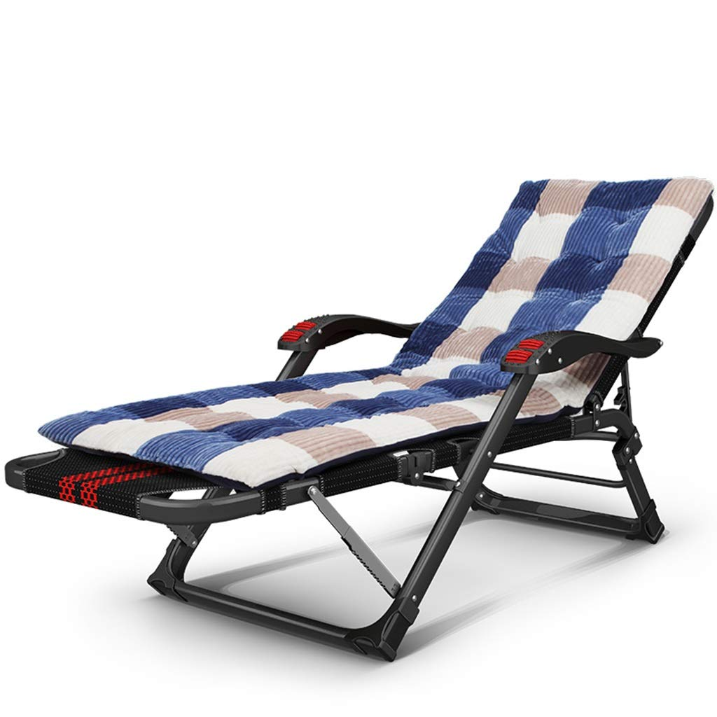 B MultiFunctional Recliner, Folding Lunch Break Siesta Bed, Office MultiFunction Folding Chair, Back Chair, Beach Chair ZJJLX (color   B)