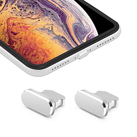 brand new 345ae 31d8b iMangoo [2 Pack] Anti Dust Plugs for iPhone Xs Max 8 Pin Charging Port Plug  iPhone XS Max Anti-dust Pluggy with Easy Storage Case, iPhone 10s Charge ...