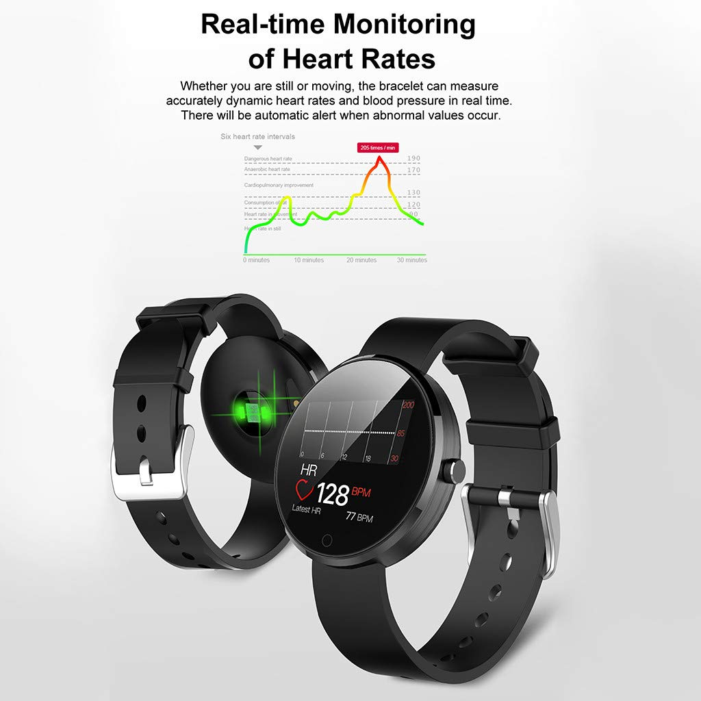 YNAA for Android iOS, Sport Smart Watch, Fitness Calorie Heart Rate Monitoring Physiological Cycle Reminder Smart Bracelet (C) by YNAA (Image #7)