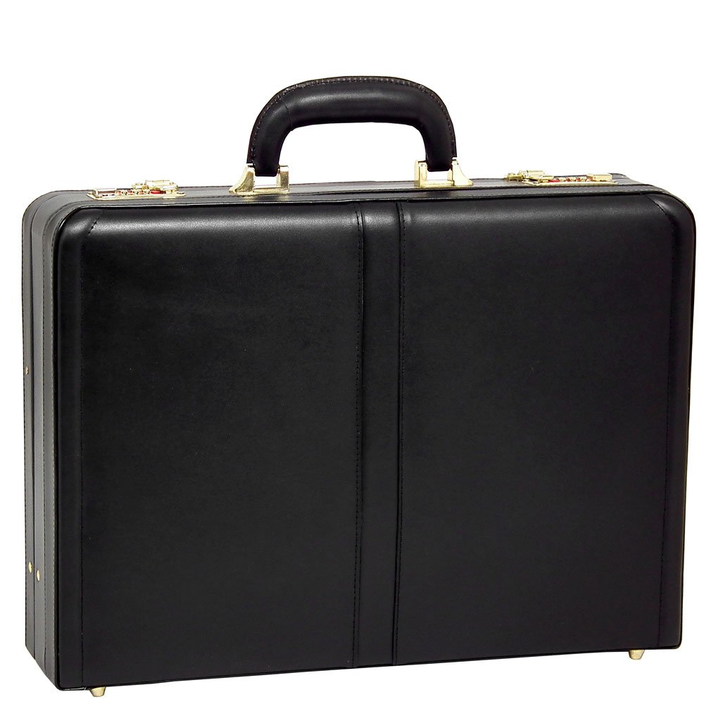McKlein USA Harper Expandable Attache Case V series 18'' Briefcase in Black