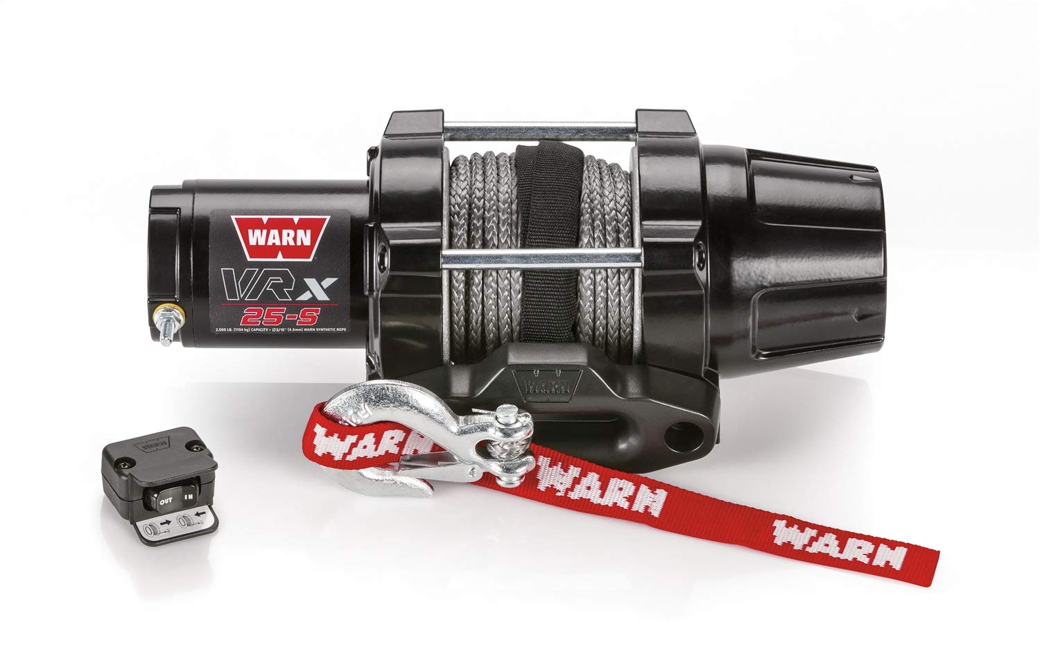 WARN 101020 VRX 25-S Powersports Winch With Synthetic Rope by WARN
