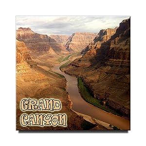 Grand Canyon National Park square fridge magnet Arizona travel souvenir