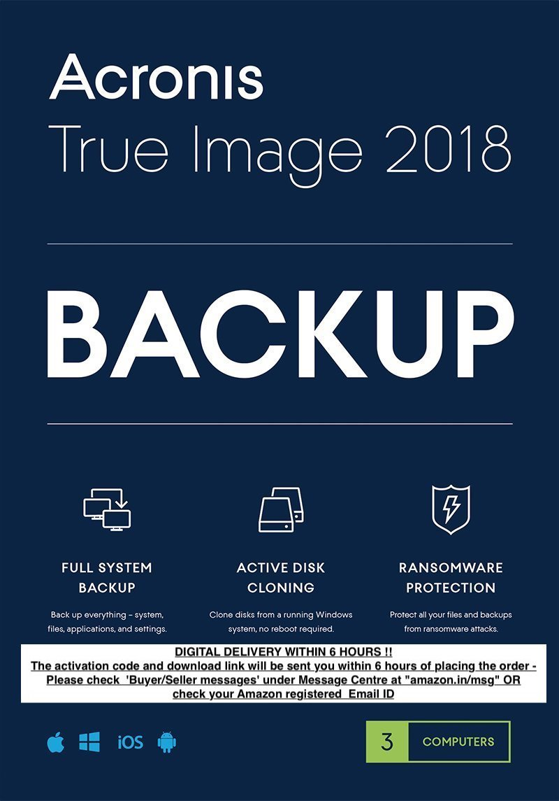 Acronis True Image 2018 - Backup Software (PC, MAC, iOS, Android