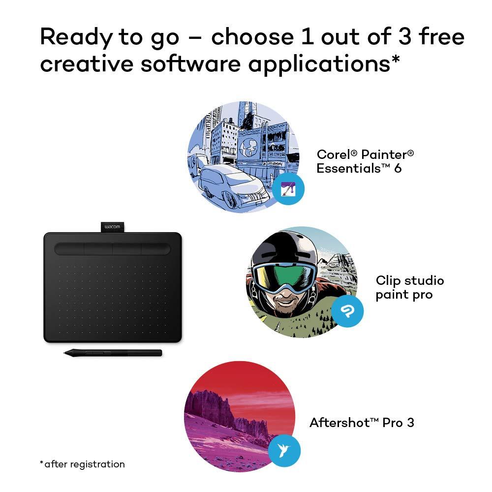 Wacom Nouvelle Intuos S - Tablette graphique à stylet, compatible avec Mac  et Windows - Idéale pour le dessin débutant - 7 pouces - Noir: Amazon.fr:  ...