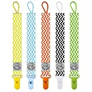 Blulu Pacifier Clip Holder, 5 Piece