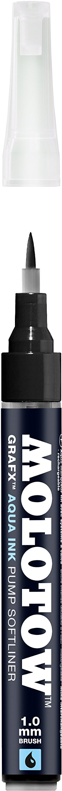 Molotow GRAFX Aqua Ink Soft Liner Brush Pump Marker, Deep...