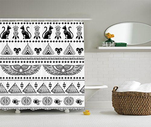 AmbesonneEgyptian DecorCollection Historical Architecture Polyester