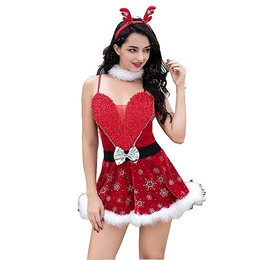 cicong zai Ropa Sexy Mujer Cosplay Navidad Ropa Corto Rock ...