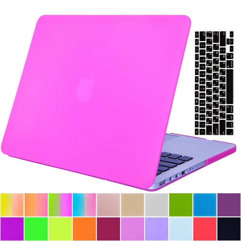 AY0070 Macbookシリーズ用ケース + キーボードカバー プロテクター Macbook Pro 15 With Retina Display AY0070-15Retina-Matte-Rose Red B01M7RQ8EN Macbook Pro 15 With Retina Display,Matte Pure ColorRose Red