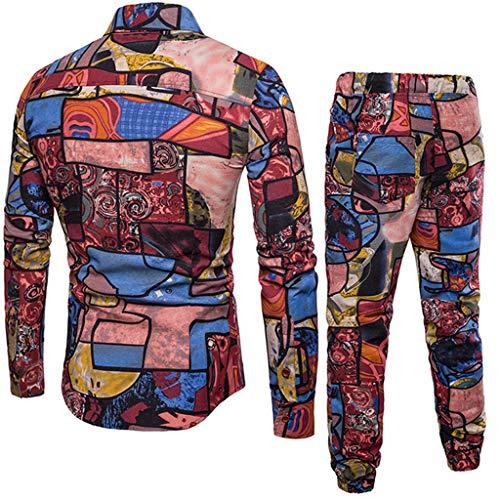 Lino Maniche Dragon868 Forti Fit E Lunghe Pantaloni Uomo 5xl 39 Casual B Taglie Slim Quadretti Camicetta 43jq5cARL